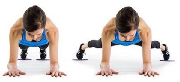 Plank Jack as slider exercises